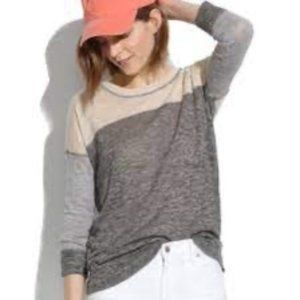 MADEWELL Tonal Color Block Outfield Sweater A1316